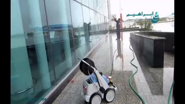 شستشوی فشار قوی نما های شیشه ای   - High-pressure-cleaning-glass-facade