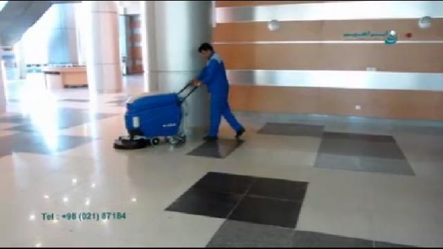 سهولت در شستشوی سطوح با اسکرابر  - Ease of washing surfaces with scrubbers