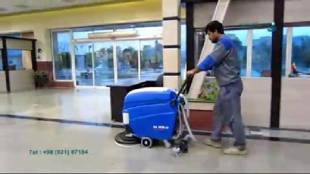 شستشوی انواع کفپوش ها با اسکرابر  - Washing of floor covering with scrubbers