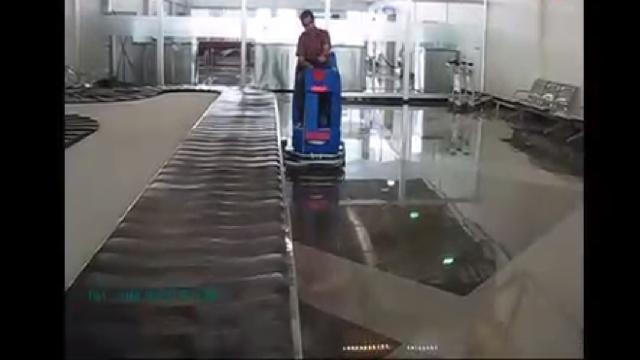 نظافت فرودگاه با اسکرابر  - Cleaning airport with scrubber