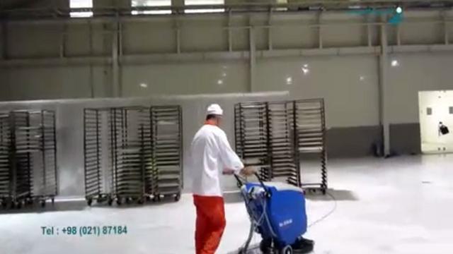 افزایش بهداشت در کارگاه پخت نان با اسکرابر  - Increase health at the baking shop with scrubber