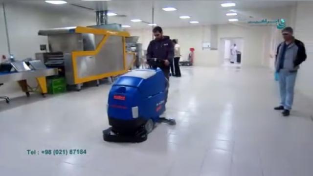 شستشوی استثنایی سطوح کف با اسکرابر  - Exceptional washing floors with scrubber