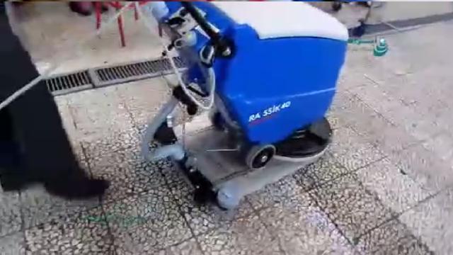 حذف آلودگی های شدید سطوح با اسکرابر  - Remove hard contamination with scrubbers