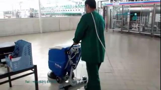 نظافت کارگاه های صنعتی با کمک اسکرابر صنعتی  - industrial environment and scrubber