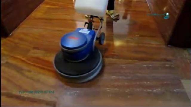 نظافت و پرداخت سطوح با استفاده از پولیشر  - Cleaning and polishing surfaces using a polisher