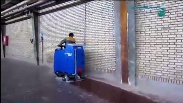 اهمیت استفاده از سکرابر سرنشین دار در شستشوی سوله های وسیع  - The importance of using a ride-on scrubber in cleaning the large niches