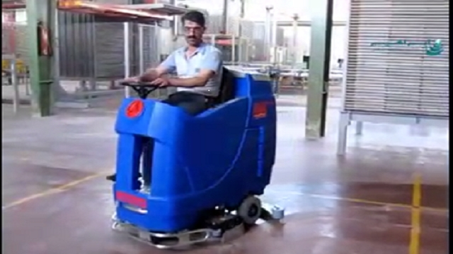شستشوی مراکز صنعتی با اسکرابر صنعتی  - Wash industrial centers with industrial scrubbers