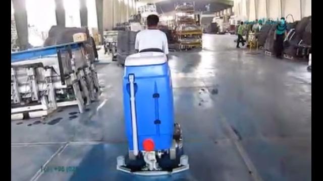 شستشوی کفپوش در محیط های صنعتی بوسیله اسکرابر خودرویی  -  Washing floors in industrial environments by ride-on scrubber