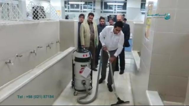 مکش مایعات با استفاده از جاروبرقی صنعتی  - Suction liquids using industrial vacuum cleaners