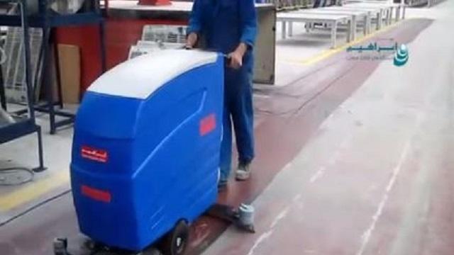 اسکرابر صنعتی برای شستشوی حرفه ای کف کارخانه  - Industrial scrubbers factory floor washing