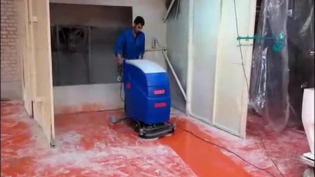 استفاده از اسکرابر در نظافت کارخانه چینی و سرامیک  - Use of scrubber in and ceramic industrial cleaning