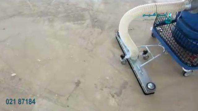 جمع آوری آلودگی های سخت با مکنده صنعتی  - Dust collection with industrial vacuum cleaner