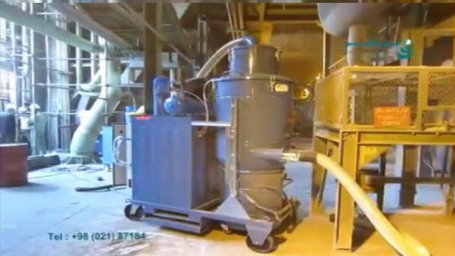 جمع آوری پودر سنگ آهن در کارخانه فولاد با مکنده صنعتی  - Collectkng powder iron ore in steel plants with industrial vacuum