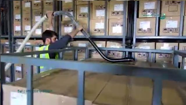 نظافت انبار محصولات غذایی با جاروبرقی صنعتی  - Cleaning warehouse food with industrial vacuum cleaner