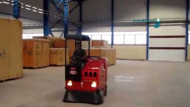 سویپر خودرویی و کاربرد آن در نظافت انبار  - using floor sweeper in cleaning the warehouses