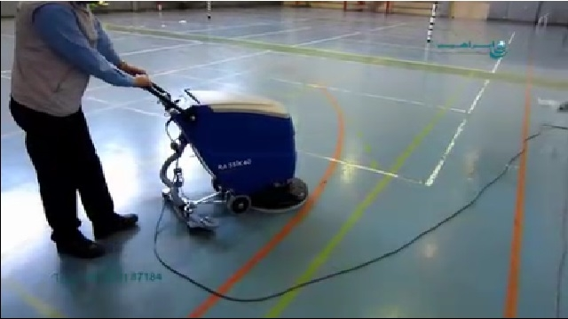 اسکرابر صنعتی و شستشوی سالن ورزشی  - Industrial scrubbers and sports salon washing