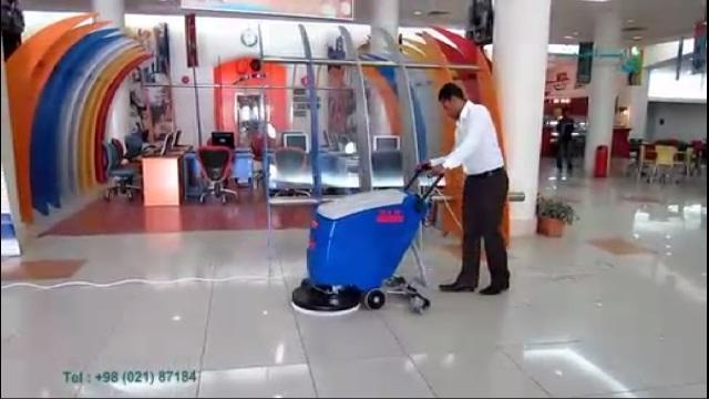 نظافت مجتمع فرهنگی و تجاری با اسکرابر صنعتی  - cleaning Bowling area with scrubber