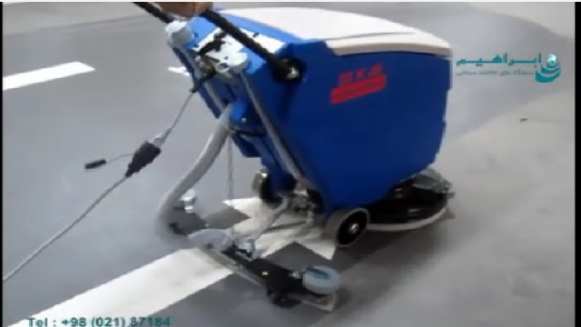 کاربرد اسکرابر در شستشوی پارکینگ  - Application of scrubber in washing parking