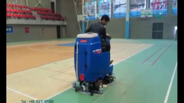 استفاده از اسکرابر خودرویی جهت شستشوی سالن های ورزشی  - use a ride-on scrubber for sport hall
