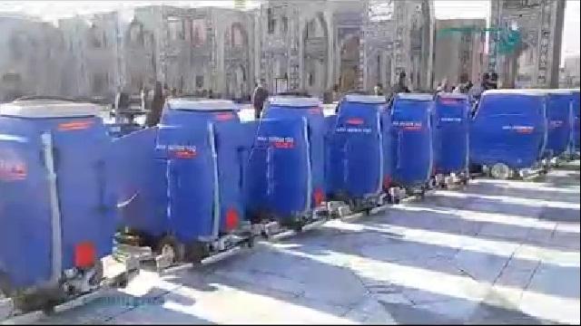 استفاده از اسکرابر در نظافت اماکن مذهبی  - The use of scrubbers to clean places of worship