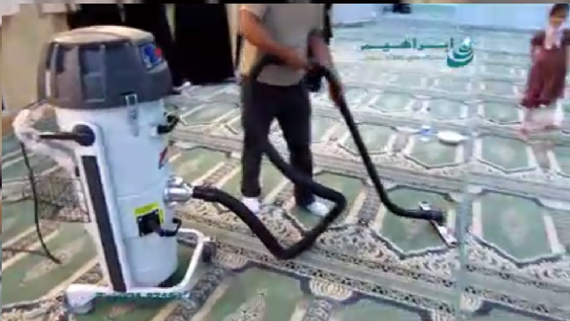 نظافت فرش در اماکن مذهبی با مکنده  - carpet cleaning in religious places with vacuum cleaner