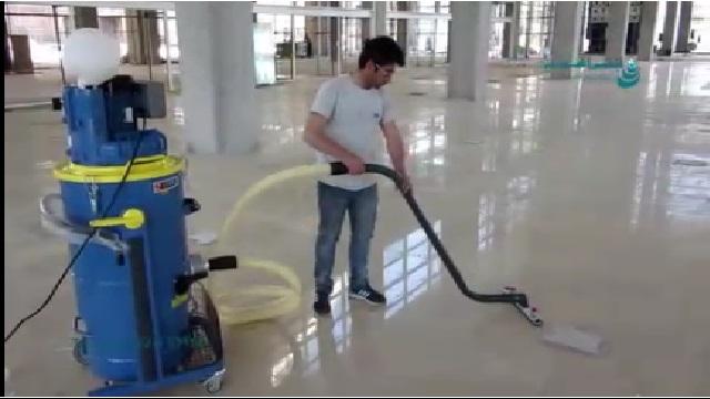 جمع آوری آلاینده های خشک با جاروبرقی صنعتی  - Collect dry pollutants with industrial vacuum cleaner