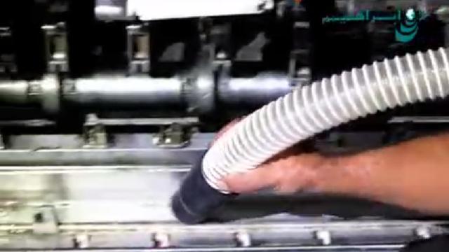 نظافت خط تولید کارخانه با جاروبرقی صنعتی  - Factory production line cleaning industrial vacuum