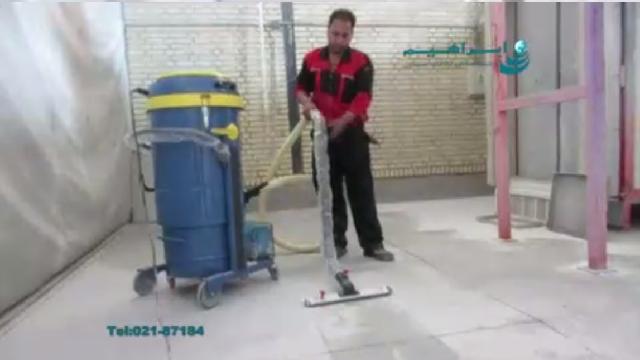 جمع آوری گرد و خاک و جامدات با جاروبرقی صنعتی  - Collecting dust and solids with industrial vacuum cleaner