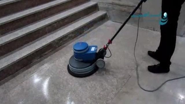 کفسابی و درخشندگی سطوح با پولیشر  - Scrub brightness floor