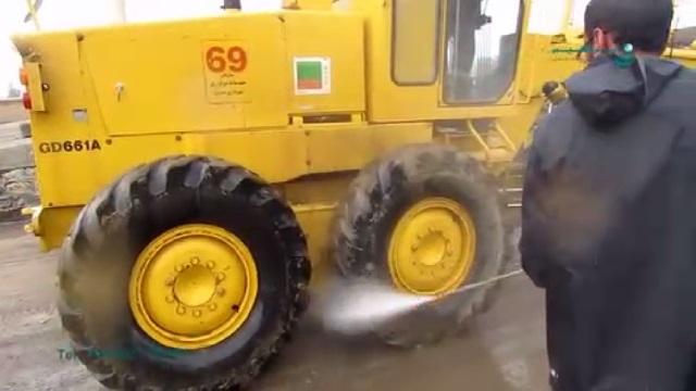 واترجت صنعتی و کاربرد آن در شستشوی ماشین آلات  - pressure washer - clean the machinery