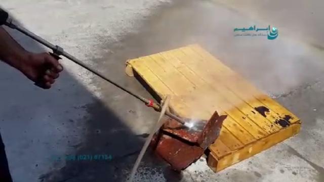 حذف زنگ زدگی با روش سندبلاست  - Removal rust with wet sandblasting