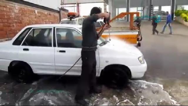 شستشوی خودرو ها با استفاده از واترجت صنعتی  - Car Wash using Industrial Pressure Washer