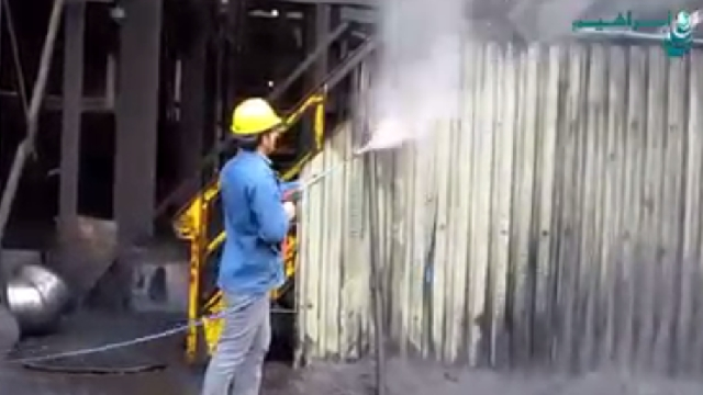 شستشوی حرفه ای انواع سطوح با واترجت صنعتی  - Professional cleaning of surfaces with high pressure
