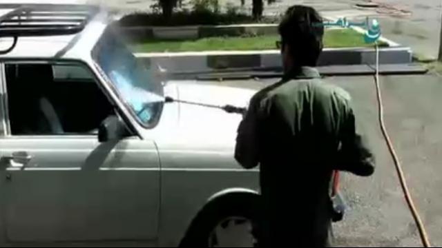 شستشوی بدنه خودرو ها با واترجت  - Wash the car body with a high pressure washer
