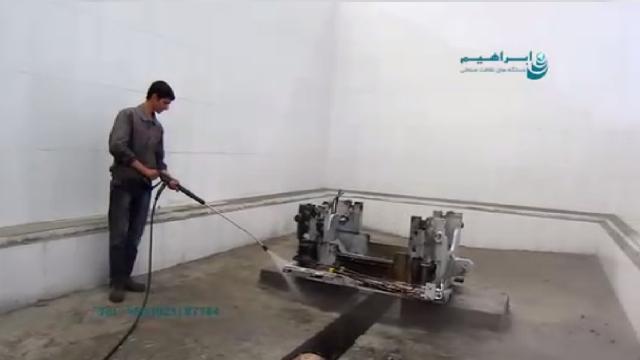 شستشوی آلودگی روغنی با واترجت آب گرم  - cleaning oily contaminated with hot high pressure washer