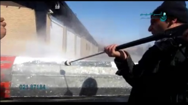 حذف لایه رنگ با واترجت   - Remove color layer with high pressure washer