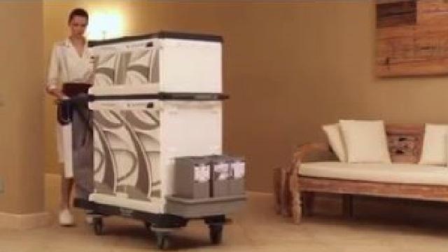 سهولت در جابجایی وسایل اتاق های مسافران با ترولی هتلی شیک و جذاب  - Ease moving equipment hotel trolley stylish attractive
