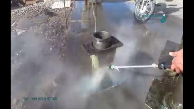 از بین بردن آلودگی های روغنی با واترجت آب گرم  - removing oil contamination  by Heated high Pressure Washer