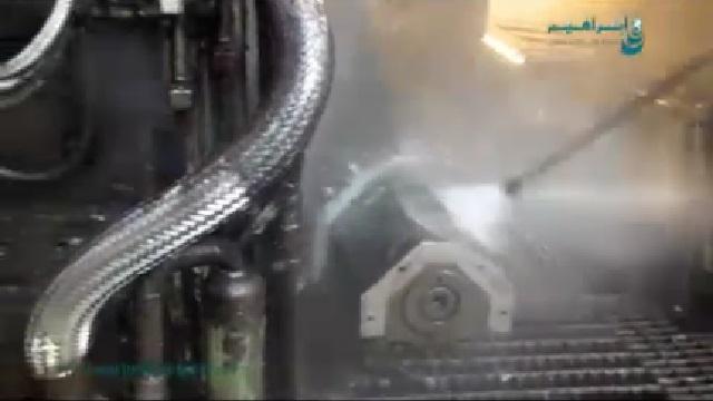 شستشوی تجهیزات در صنایع فولاد با واترجت  - Wash equipment in steel industry by high pressure washer