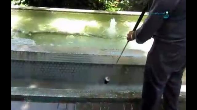 شستشوی سطوح بوسیله واترجت   - cleaning the surfaces by high pressure washer