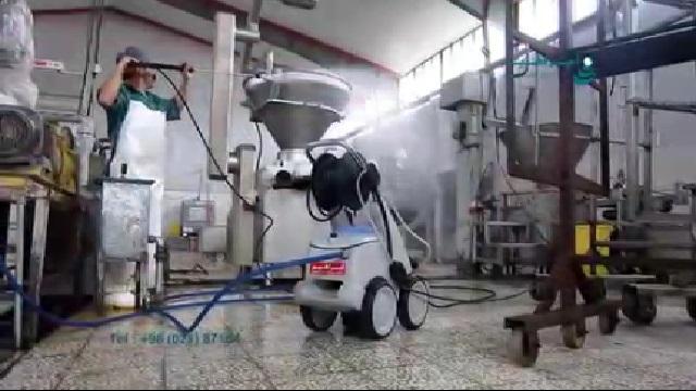 شستشوی تجهیزات در صنایع غذایی با واترجت  - Wash equipment of food industry with pressure washer