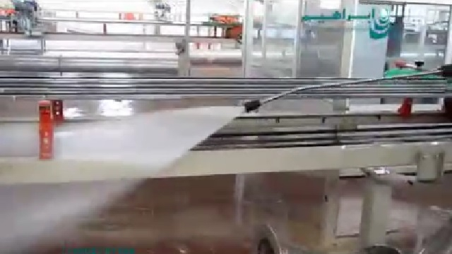 شستشوی خط تولید با واترجت  - Wash production line with high pressure washer