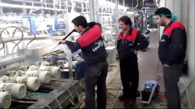 نظافت تاسیسات نفتی با واترجت  - Cleaning Oil Installations with Pressure Washer