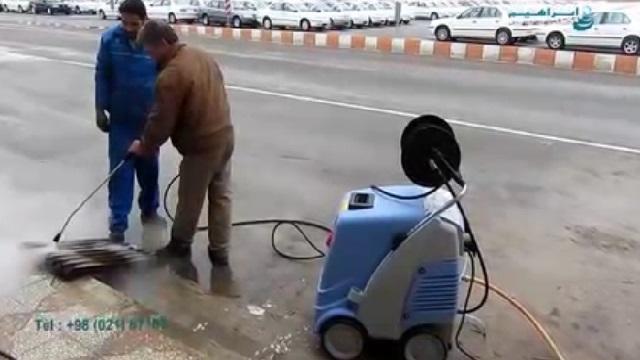 توان بالای واترجت در حذف آلاینده ها   -  high ability of high pressure washer to remove pollutants