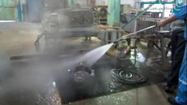 شستشوی قطعات با استفاده از واترجت  - Wash industrial parts using high pressure washer
