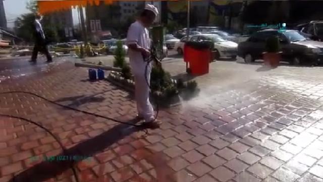 شستشوی محوطه مغازه و فروشگاه با واترجت  - Washing shop and store lot with high pressure washer