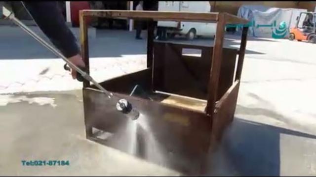 استفاده از واترجت فوق فشار قوی جهت زنگ بری فلزات   - Use ultra high pressure washer for metal rusting
