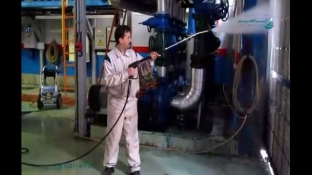 استفاده از واترجت در شست و شوی تجهیزات صنعتی  - use of high pressure washer in claeaning the industrial equipment