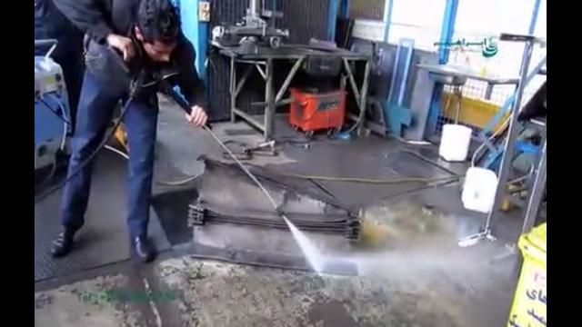 کاربرد واترجت آب گرم در از بین بردن آلودگی ها  - application of heated pressure washer at removing dirts