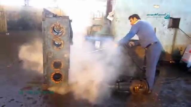 کاربرد واترجت صنعتی در شستشوی تجهیزات  - The use of industrial high pressure washer in cleaning equipment